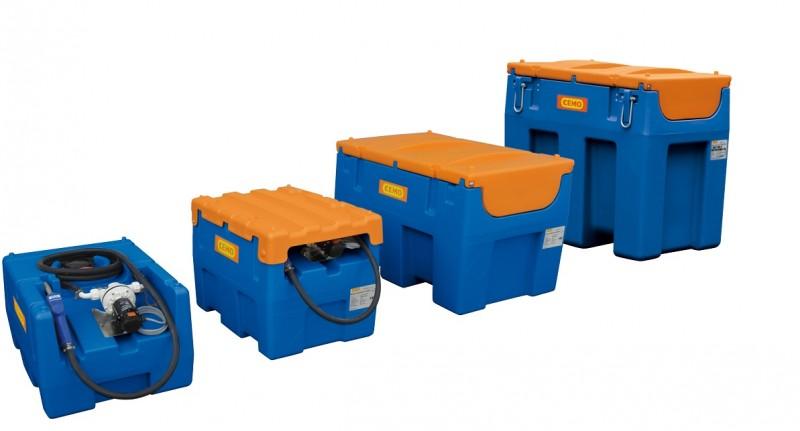 Cemon siirettävät Adbluesäiliöt. Koot 125 - 600 litraa. Neljä eri kokoa.