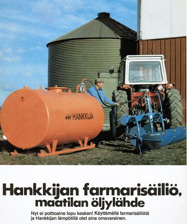 Hankkija Oy ja Agrimarketit kautta maan jälleenmyvät Tuomisen Sepänliikkeen säiliötä kautta maan
